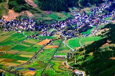 Village And Fields Royalty Free Stock Photography