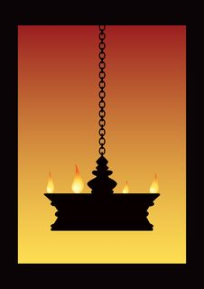 Free Temple Lamp Royalty Free Stock Images - 16650499