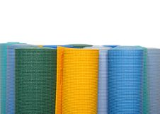 Free Many Colorfull Yoga Mats As A Background Stock Image - 16650651