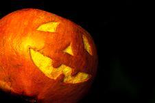 Free Halloween Face On Black Stock Photo - 16651140