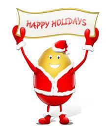 Free Happy Holidays - Santa Claus Royalty Free Stock Photo - 16651285