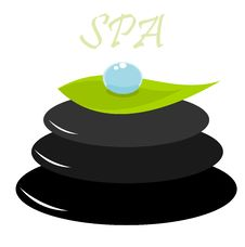 Free Spa Leaf And Droplet Royalty Free Stock Photos - 16651328