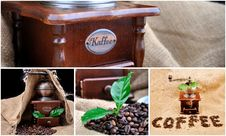 Collage With Coffee Royalty Free Stock Photo
