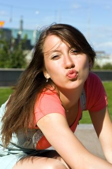 Free Young Girl Lets Kiss Stock Photos - 16652013