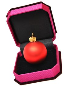 Christmas Balls In Small Box For A Gift Stock Photography