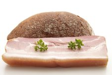 Free Pig Meat With Parsley Stock Photo - 16652220