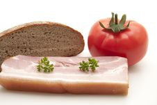 Free Cooked Pig Meat With Tomato Stock Images - 16652234
