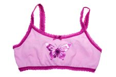 Free Bra With Pattern Butterfly Stock Photography - 16652562