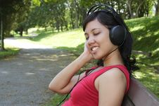 Free Woman Listening To Music Royalty Free Stock Photography - 16653177