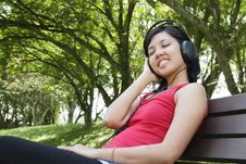 Free Woman Listening To Music Stock Photography - 16653232
