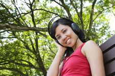 Free Woman Listening To Music Royalty Free Stock Images - 16653319