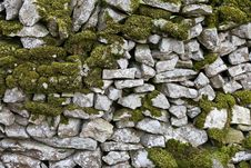 Free Dry Stone Wall With Moss Stock Photos - 16653463