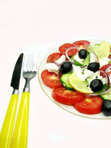 Free Greek Salad Royalty Free Stock Photography - 16654057