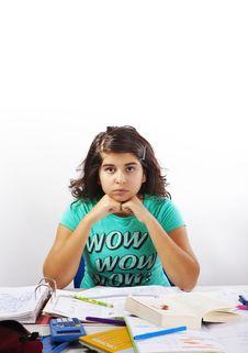 Free Bored Teenage Girl Royalty Free Stock Photography - 16654127