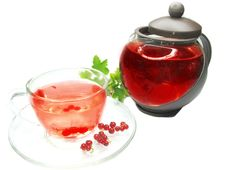 Free Herbal Tea With Currant Extract Royalty Free Stock Photo - 16654245