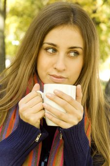 Free Coffee Girl Stock Images - 16655264