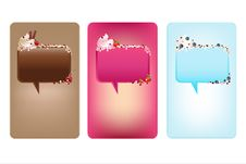 Free Banners With Speech Bubbles And Ice-Cream. Vector Stock Photography - 16655312