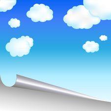 Blue Sky. Vector Stock Photos