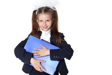Free Schoolgirl With Briefcase Stock Image - 16656371