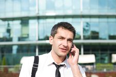 Free Manager Speak On Phone Across Office Stock Image - 16656421