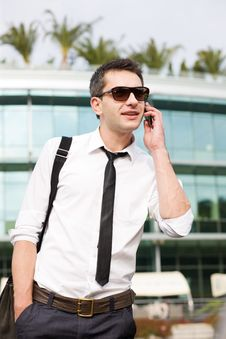 Free Manager Speak On Phone Across Office Stock Photo - 16656430