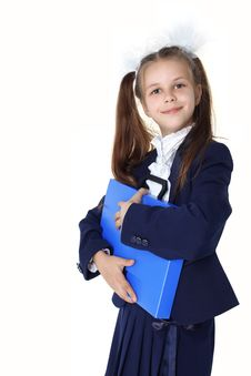 Free Schoolgirl With Briefcase Royalty Free Stock Photo - 16656445