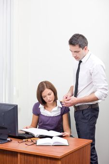 Free Office Workers Posing For Camera Royalty Free Stock Image - 16656456