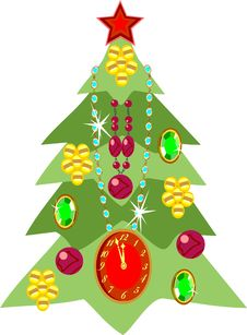 Free Christmas Tree Royalty Free Stock Image - 16657156