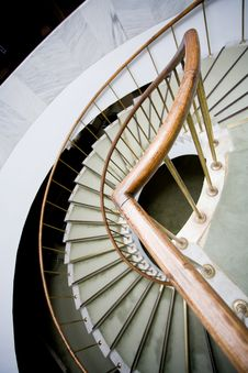 Bend Of Stairs Royalty Free Stock Image