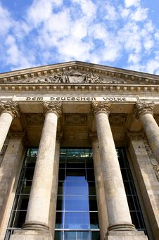 Free Detail Of The Reichstag, The German Parliament Stock Photography - 16657942