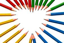 Free Pencils On White Background Stock Photography - 16658012