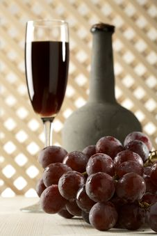 Still Life With Old Red Wine Royalty Free Stock Images