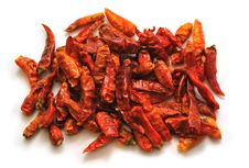 Free Chili Peppers Isolated On White Royalty Free Stock Photo - 16659385