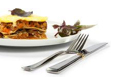 Free Lasagna With Basil Stock Photography - 16659752