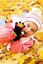 Free Autumn Portrait Of Cute Little  Girl Stock Image - 16660411