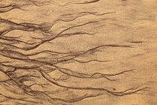 Free Artistic Shapes In The Sand Royalty Free Stock Photography - 16660287