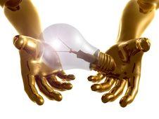 Idea Light Bulb 3d Arms Stock Photography