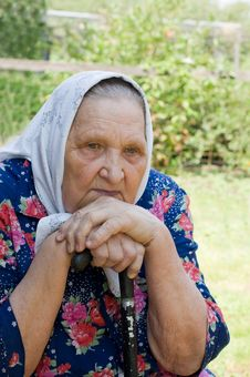 Free Portrait Of The Old Woman Stock Photography - 16664042