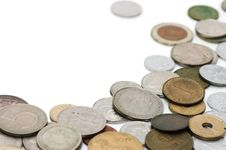 Old Coins  Background Stock Photography