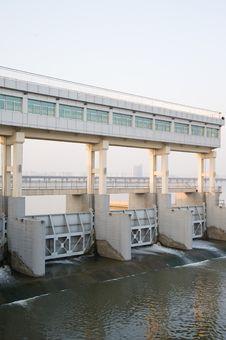 Modern Dams On The Yangtze River Of China Stock Image