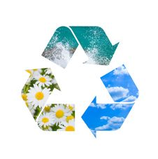Free Conceptual Recycling Sign With Images Of Nature Royalty Free Stock Photography - 16664667