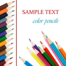 Free Colour Pencils Isolated On White Background Stock Images - 16664714