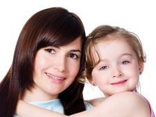 Free Portrait Of Mother With Daughter Stock Images - 16664794