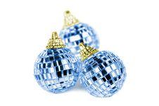 Free Three Mirror Christmas Balls Stock Photos - 16665303