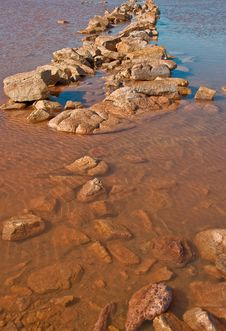 Free Lake In The Red Australia Desert Stock Image - 16665411