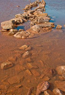 Lake In The Red Australia Desert Stock Image