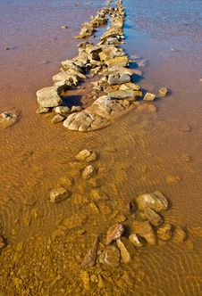 Lake In The Red Australia Desert Stock Photo