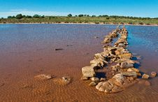 Free Lake In The Red Australia Desert Stock Photo - 16665530