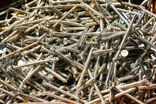 Free Small Rust Screw Royalty Free Stock Image - 16665586
