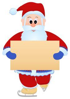 Santa With Blank Sheet Stock Photos